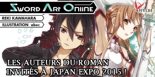 Actu Manga, Japan Expo 2015, Manga, Ofelde, Reki Kawahara, Sword Art Online,