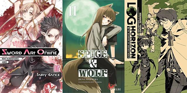 Actu Light Novel, Actu Manga, Light Novel, Log Horizon, Manga, Ofelbe, Spice and Wolf, Sword Art Online,